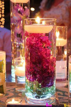 wedding ideas on a tight budget   Duygu Butik: Mumlarınızı Çiçeklerle Süsleyin(DIY)