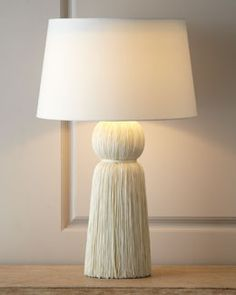 tasselTASTIC! how perfect is this lamp for a dressing table?