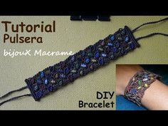 Pulsera macrame rombo | pulseras de hilo faciles - YouTube