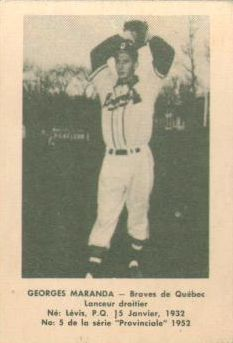 Hymie Hyman.  This actually isn't Hyman, but he only played one year (1949) for a team (the Sherbrooke Athletics) that was only around a maximum of 6 years in a minor/independent league (the Provincial League) that was only around a maximum of 7 years.  As a result, not easy to find related pictures...but it's such a great name