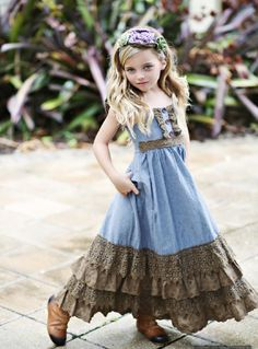 Mustard Pie Emerald Dance Jade Maxie Dress<BR>Now in Stock. (Different color or material for the body of the dress? Cute Little Girl Dresses, Little Girl Outfits, Cute Outfits For Kids, Little Girl Fashion, Kids Fashion, Girls Maxi Dresses, Baby Girl Dresses, Baby Dress, Cute Dresses