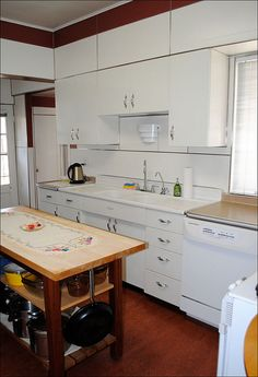 kitchen 1950 s metal cabinets refinished youngstown pinterest