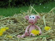 Gehäkeltes Schwein Häkelanleitung Crochet Pig Pattern