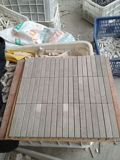 Brown Wooden Marble Mosaic Tile