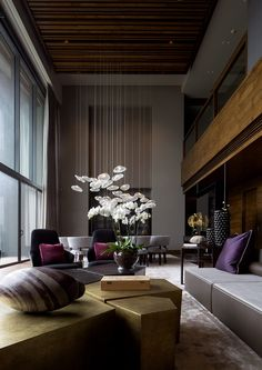 A Contemporary Sophisticated style space in a rich and moody color palette