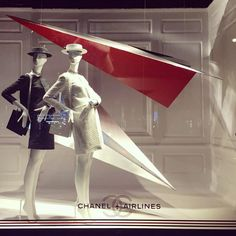 """SAKS FIFTH AVENUE,New York, """"Chanel Airlines Voted Best Airline..... Ever"""", pinned by Ton van der Veer"""