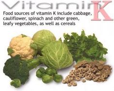 Foods High in Vitamin K *Limit if on blood thinners such as comadin. And check with your docter always.