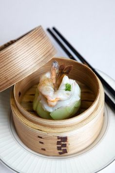 Three Michelin Star lobster and scallop dumplings @ the Four Seasons Hong Kong