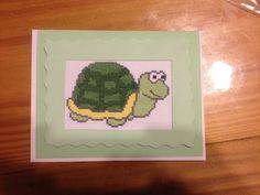 Cross stitch turtle card