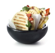 Boodschappen - Pita tosti met kaas, parmaham en geroosterde paprika