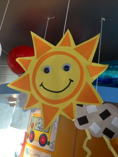 S is for Sun craft COuld glue yellow tissue paper on it!