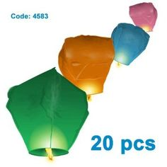 4583 C20 Eco Friendly Pack of 20 Traditional Chinese Thai Flying Glowing Sky Lanterns in MIXED Colour Green Yellow Red Pink Purple Blue suits perfectly for New Year Celebration, Christmas Celebration, Wedding, Bonfire Night, Halloween, Diwali Celebration, Party Celebration, New Years Eve Celebration, Valentine's Day Chinese New Year Celebration Party Gadgets - Top Quality >>>: Amazon.co.uk: Garden & Outdoors