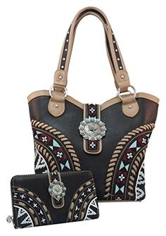 Montana West Aztec Concealed Carry Purse & Matching Wallet Set, Gun Handbag Holster Concealment CCW Bag Black Montana West http://smile.amazon.com/dp/B00NEX0BNQ/ref=cm_sw_r_pi_dp_ZlKdub1C9AYEY