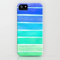 Ocean Blue iPhone & iPod Case by Sara Eshak - $35.00 #iphone #case #cover