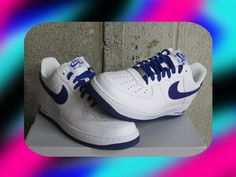 premium selection ac143 91266 Nike Air Force 1 One Low White Royal Blue Leather DS Sz 13 new 488298-114   eBay