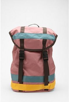 Deena & Ozzy Nylon Colorblock Tech Backpack
