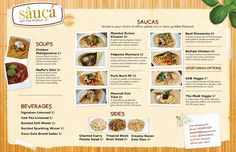 Sauca Food Truck Menu - by Seth Design Group