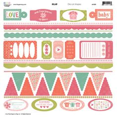 Three Bugs In a Rug - Ellie Collection - Die Cut Shapes at Scrapbook.com $1.39
