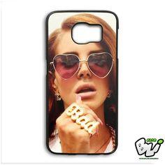 Lana Del Rey Heart Glasses Samsung Galaxy S6 Edge Case