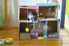DIY cat house/ maison de chat DIY