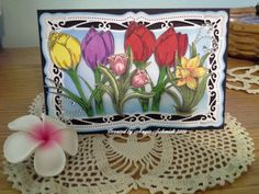 Stamps by Fred she said and Gina K. designs Signs of spring!
