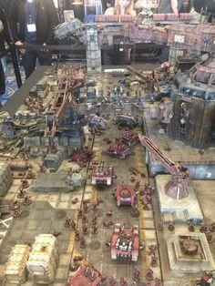 Amazing Warhammer 40k table by WarLlama. Most impressive.