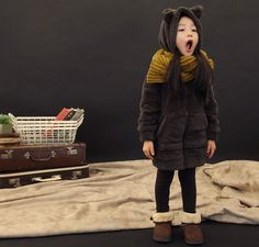 Korean Fashion TRENDer: [The Jany] Children's Furry Bear Hoodie