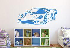 Sports Car Wall Decal - Speedy Vinyl Decor for Boys
