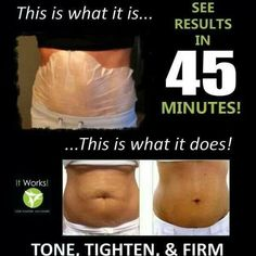 """Tigthen, tone and firm away your stomach fat with It Works! """"that crazy wrap thing"""" http://wrapitwithmichellewhitman.myitworks.com/"""