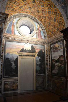 Milano - San Maurizio al monastero maggiore, aula delle monache, Affreschi della scuola di Bernardino Luini, cappella laterale con paesaggi del XVI secolo