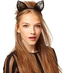 WHAT'S IN THE BOX 1 black cat ears headband for halloween DESIGN Cat ears headband made of metal and lace Bendable wires that allow you to reshape the ears SIZE One size Cat ears: 1.9 inches Headband