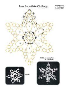 star tatting  pattern
