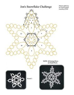 star tatting pattern