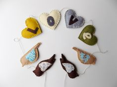 Bird Love Garland Bunting by sewwhimsycreations on Etsy