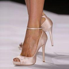 Shoespie Nude Peep Toe Ankle Wrap Stiletto Heels