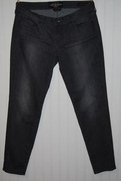 "Lucky Brand Charlie Skinny Jeans Gray Womens 10/30 29"" inseam #LuckyBrand #SlimSkinny"