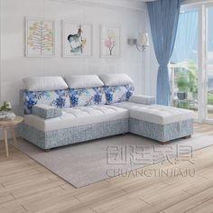 Living Room Partition Design, Room Partition Designs, Living Room Sofa Design, Home Room Design, Sofa Come Bed Furniture, Bedroom Furniture Design, Living Room Furniture, Sofa Bed Bedroom Ideas, Sofa Bed Wood