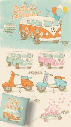 Free Spirit Vintage Summer Kit by Lisa Glanz on @creativemarket