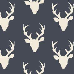 Deer Silhouette - Art Gallery Fabrics Hello, Bear - Buck Forest Twilight - Baby Fabric Store