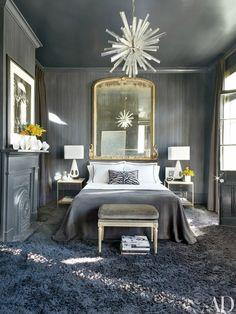 Оформление стены за изголовьем кровати в спальне - Home and Garden