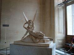 Psyche Revived by Cupid's Kiss (Louvre) Cupid, Feel Good, Kiss, Greek, Louvre, Statue, Paris, Montmartre Paris, Paris France