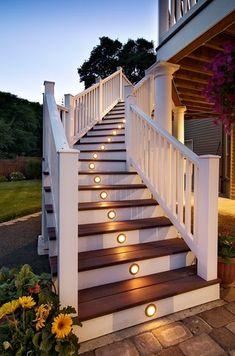 Beautiful staircase with lighting.  www.hendererdesignbuild.com