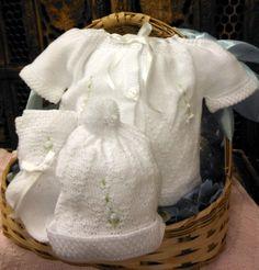 Will beth White Knit Ribbon 4pc Diaper Set Baby Girls Hat Booties Preemie. Preemie  BabiesPremature ... 3293f6091fb3