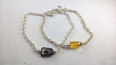 Amber bracelet, Silver and Amber bracelet, Genuine Amber bracelet, Amber nugget bracelet, Balic Amber, Amber nugget.