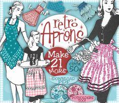 Make 21 MORE Retro Aprons Vintage Pattern Patterns  e-Booklet PDF