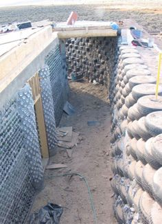 Earthship building materials