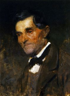 Portrait of a man in a bow tie - Anton Azbe