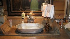 1000 images about galvanized on pinterest galvanized for Metal bucket sink