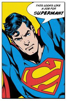 Superman (Looks Like A Job For) Posters på AllPosters.dk