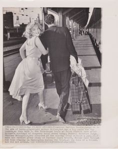 Date: 1957 Category: Celebrity Subject: Marilyn Monroe - Arthur Miller Original: Yes Color: B&W Size (approx.): 8 x 10 Type: Type I Press Photo Stamped: Press Clipping on Front Stamped Associated Press on verso